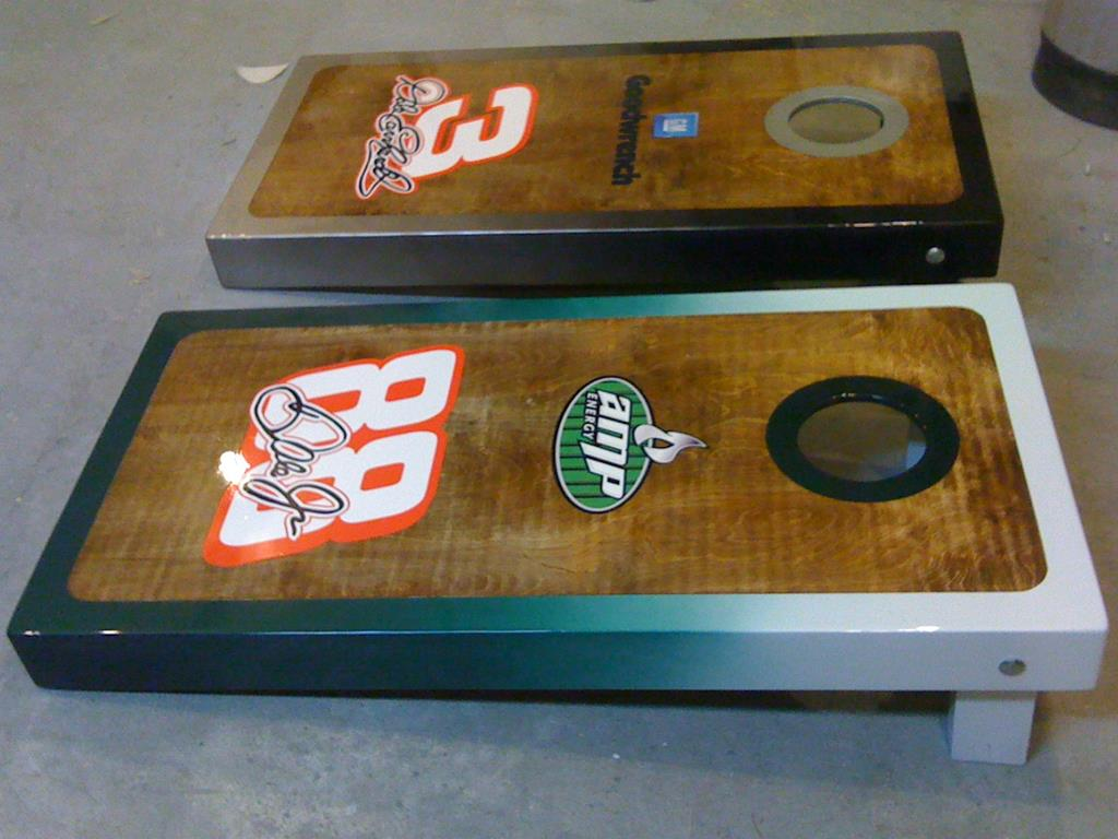 Customized Dale Sr. and Dale Jr. Boards